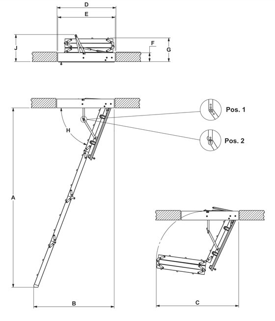 Схема проема лестницы